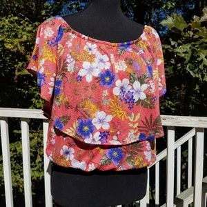 Crop Top Floral Crave Fame By Almost Famous